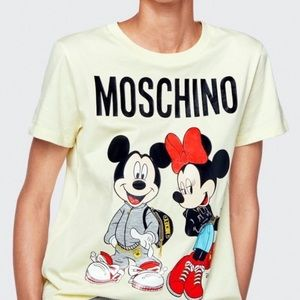 HM x Moschino Mickey And Minnie Tshirt